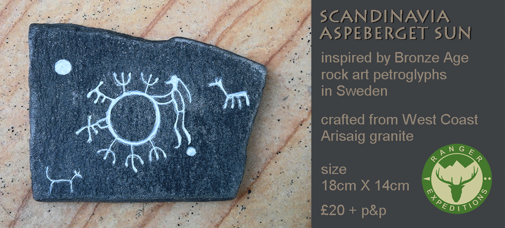 Scandi Stone #01 - Asperberget Sun - ONE AVAILABLE