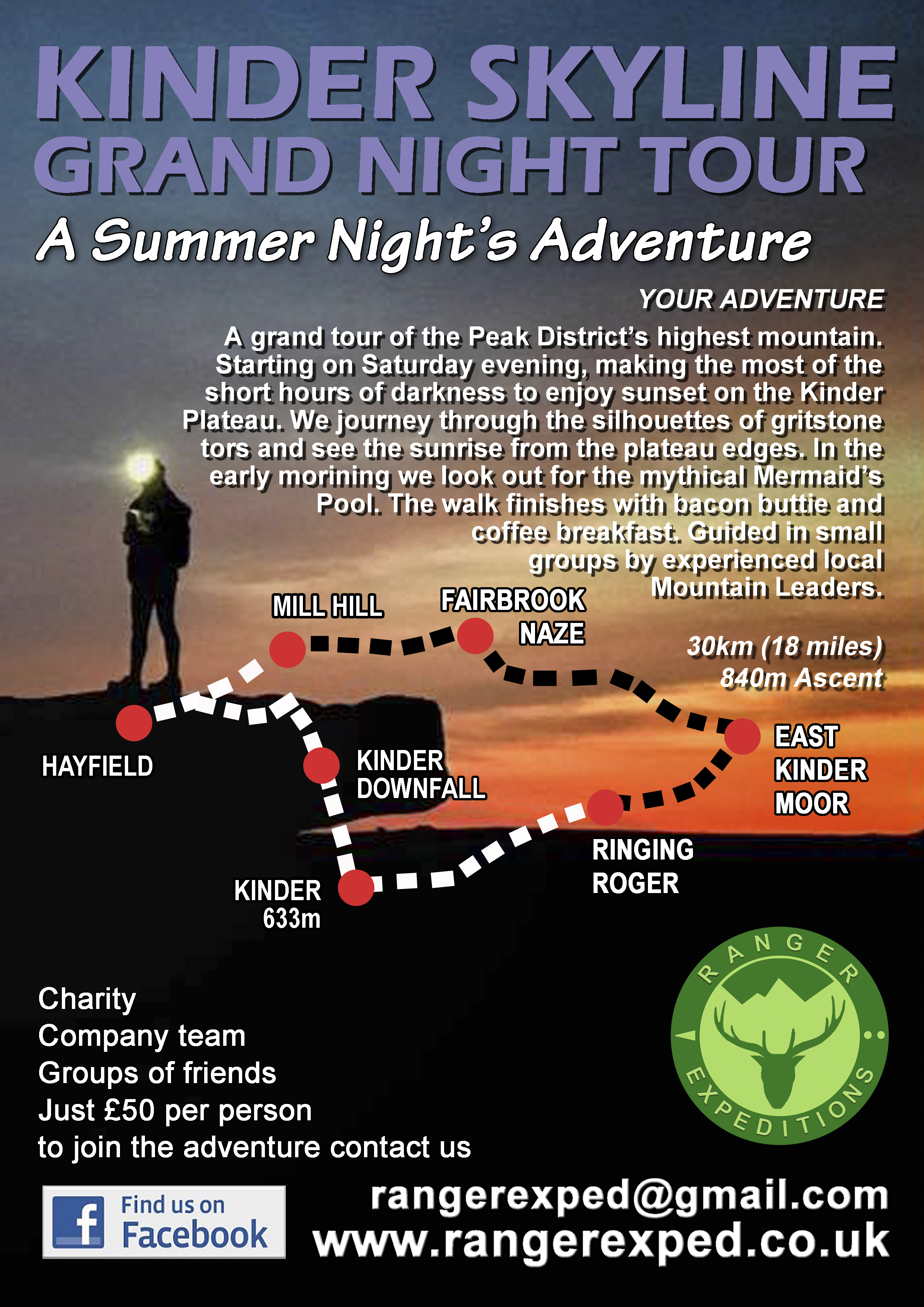 KINDER SCOUT GRAND TOUR mid summer night adventure